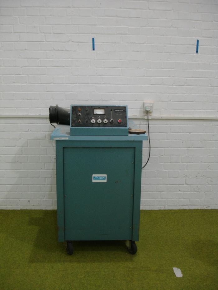 A blue machine