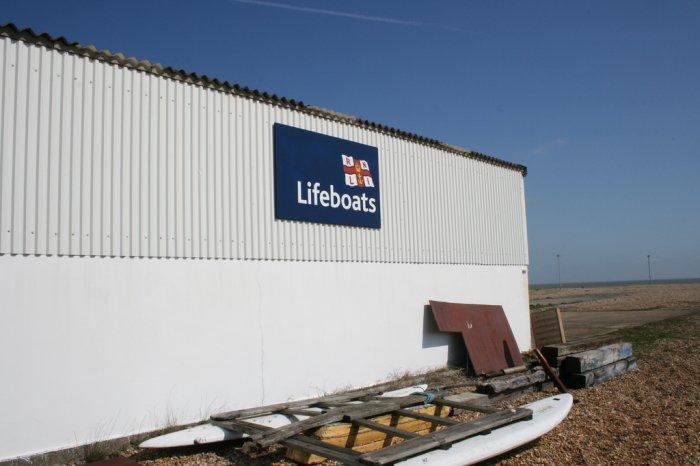 Side of boathouse