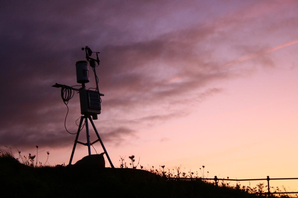 Weather station, dusk