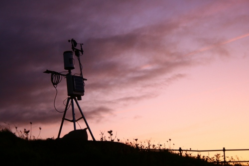 Weather station, dusk